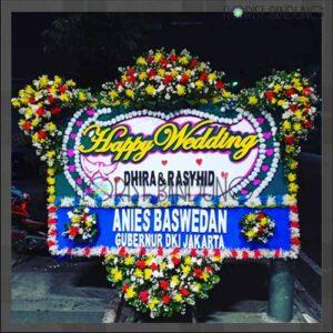 Bunga Papan Happy Wedding Bandung FBBPW-001